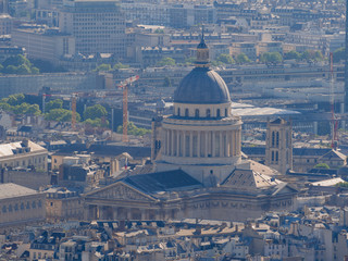 Aerial view of the Pantheon and cityscape