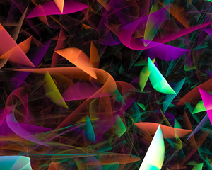 abstract fractal, fantasy design, party