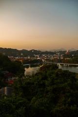 Kandy, point of view. View of Kandy city and Kandy lake. Sri lanka
