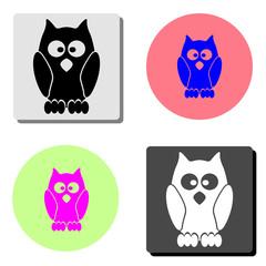 owl. flat vector icon