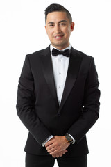 man in suit on white background