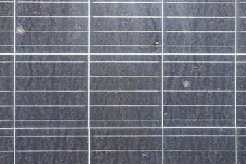 Dirty Dusty Solar Panels top view