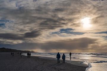 Spaziergang am Strand der Nordsee
