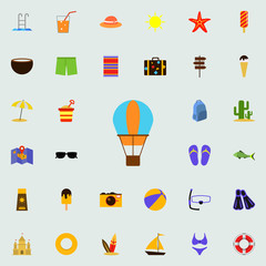 Balloon flat icon. colored Summer icons universal set for web and mobile
