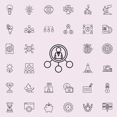 business man connection icon. Startup icons universal set for web and mobile