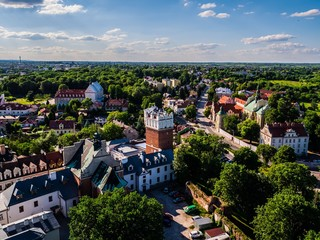 Sandomierz Panorama miasta Brama Opatowska