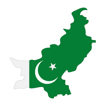 map of Pakistan - flag