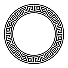 Decorative round frame. Abstract vector geometric ornamentd. Vector illustration.
