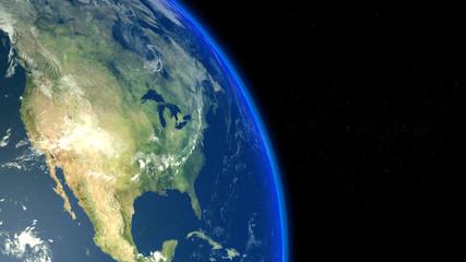 Amérique vue depuis l'espace