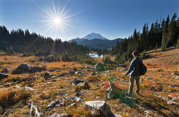 Fall In The Chinook Pass Area of Rainier National Park
