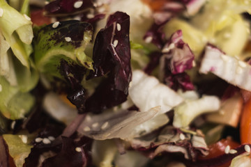 close-up picture of a salad