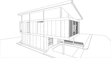 sketch design of house,vector