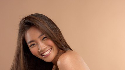 thai asian japanese model laughing