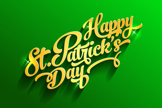Saint Patrick's day lettering poster template