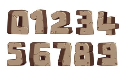Stone style font numbers