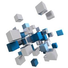 math cube blue