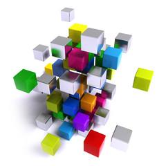 Math cube color