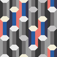 gray 3d columns seamless pattern