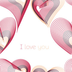 I love you typographic seamless pattern