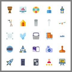 25 professional icon. Vector illustration professional set. design and customer icons for professional works