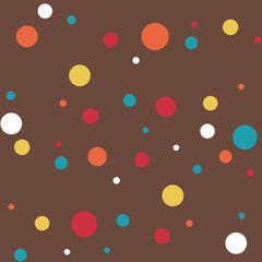 seamless rainbow dots pattern on chocolate