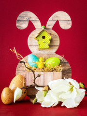 Easter bunny greeting decoration arrangement