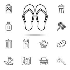 flip-flops icon. Camping icons universal set for web and mobile