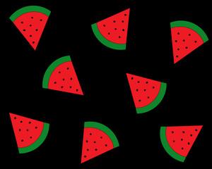 Muster Melone auf schwarzem Hintergrund