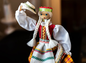 Lithuanian doll in traditional costume