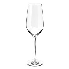 Champagne or wine glass. 3d rendering illustration