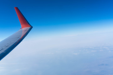 travel photo, a view from the window of the plane on a way to Moscow from Dubai