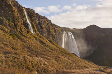 Printed roller blinds Canyon Icelandic waterfalls