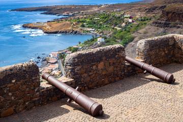 Foto auf Gartenposter Schokobraun Cidade Velha old fort in Santiago - Cape Verde - Cabo Verde