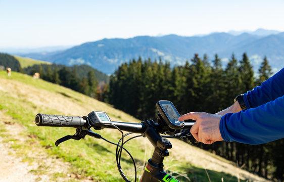 GPS Navigation am Mountainbike