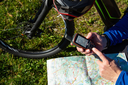 GPS vs. Landkarte - Fahrrad Tourenplanung