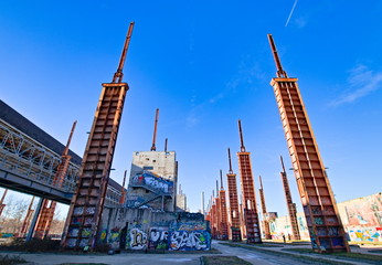 Former industrial building, now Dora Park, in Turin, Piedmont, Italy
