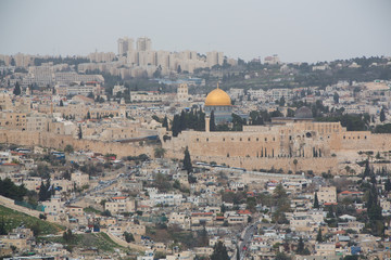 Jerusalem as seen from the distance