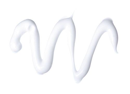 Cream beauty care macro on white background isolation