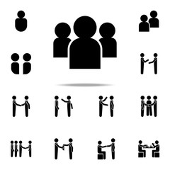 society icon. Conversation icons universal set for web and mobile