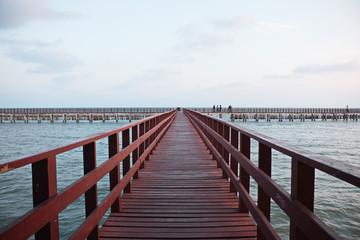 Thailand coastal bridge