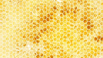 Abstract geometric background. Luxurious golden texture. Digital fractal art. 3d rendering.