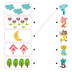 nature worksheet vector design