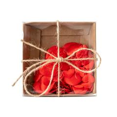 small box of hearts