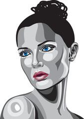 Metallic Women Face