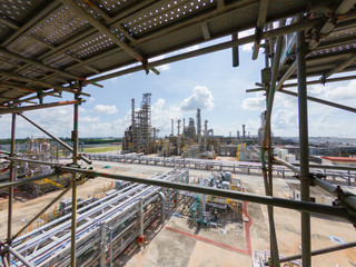 Oil and gas refinery industrial plant