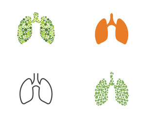 lungs icon vector illustration