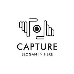 capture hand logo template design
