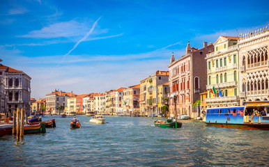 Keuken foto achterwand Venetie Panoramic view of famous Grand Canal in Venice, Italy