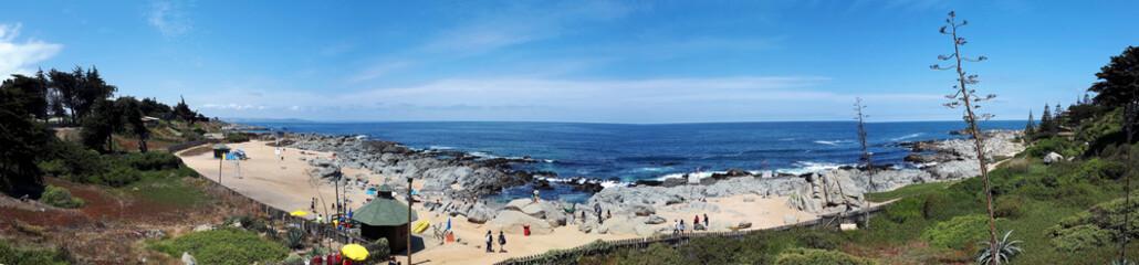 Panorama der Pazifikküste in Chile