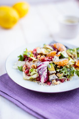 Salad with  tangerines and avocado